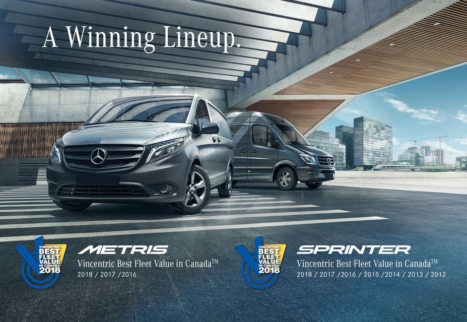 3574115c49 Mercedes-Benz Vans once again earn Vincentric Best Fleet Value in Canada™  Awards